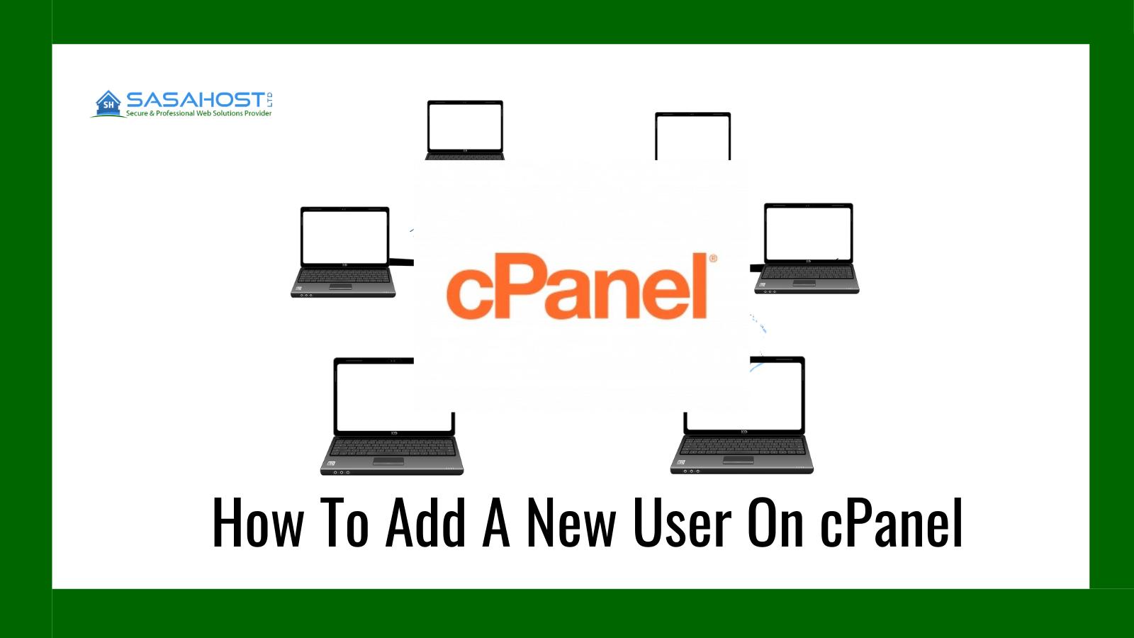 new cpanel user