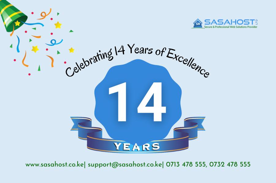 Happy 14th Anniversary-Sasahost
